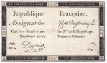 France 125 Livres - 7 Vendémiaire An II - 1793 - Sign. Dupriez - VF