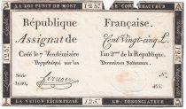 France 125 Livres - 7 Vendémiaire An II - 1793 - Sign. Fernoire - PTB