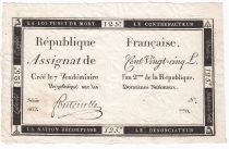 France 125 Livres - 7 Vendémiaire An II - 1793 - Sign. Fontenelle - TTB+