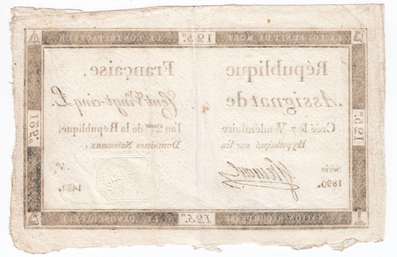 France 125 Livres - 7 Vendémiaire An II - 1793 - Sign. Ftemont - TTB