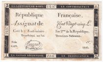 France 125 Livres - 7 Vendémiaire An II - 1793 - Sign. Furgaud - TTB