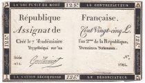 France 125 Livres - 7 Vendémiaire An II - 1793 - Sign. Guilleminet - TTB