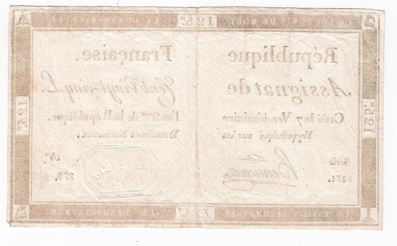 France 125 Livres - 7 Vendémiaire An II - 1793 - Sign. Henriquez - TTB+
