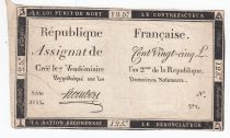France 125 Livres - 7 Vendémiaire An II - 1793 - Sign. Hombert - PTB