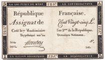 France 125 Livres - 7 Vendémiaire An II - 1793 - Sign. Hombert - TTB+