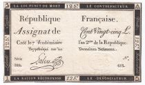 France 125 Livres - 7 Vendémiaire An II - 1793 - Sign. Lalou - TTB+