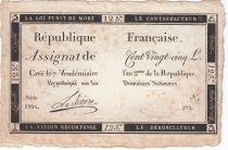 France 125 Livres - 7 Vendémiaire An II - 1793 - Sign. Lariviere - TTB