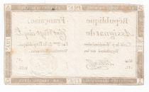 France 125 Livres - 7 Vendémiaire An II - 1793 - Sign. Le Claireff - VF
