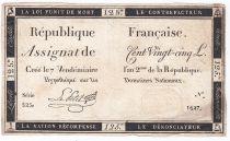 France 125 Livres - 7 Vendémiaire An II - 1793 - Sign. Le Petit - TB+