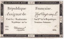 France 125 Livres - 7 Vendémiaire An II - 1793 - Sign. Mayraus - F