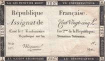 France 125 Livres - 7 Vendémiaire An II - 1793 - Sign. Meyraud