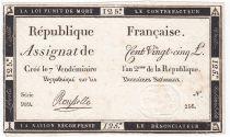 France 125 Livres - 7 Vendémiaire An II - 1793 - Sign. Rousselle - TTB