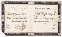 France 125 Livres - 7 Vendémiaire An II - 1793 - Sign. Souleux - VG to F