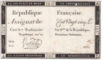 France 125 Livres - 7 Vendémiaire An II - 1793 - Sign. Valliere - TTB
