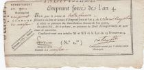 France 13 Francs Emprunt Forcé - An 4 (1796) - Gers Grimaud - Marfan ?