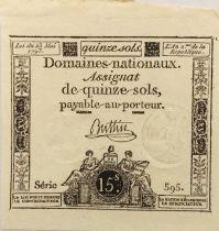 France 15 Sols Liberté et Droit (23-05-1793) - Sign. Buttin - Série 595 - SPL