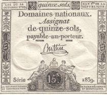 France 15 Sols Liberté et Droit (23-05-1793) - Sign. Buttin