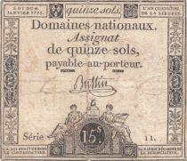 France 15 Sols Liberté et Droit 04-01-1792 Série 11