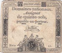France 15 Sols Liberté et Droit 04-01-1792 Série 12