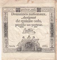 France 15 Sols Liberté et Droit 04-01-1792 Série 1624