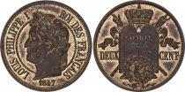France 2 Centimes - Louis Philippe I 1847 - Essai à la charte