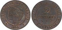 France 2 Centimes Cérès - Troisième République - 1896 A