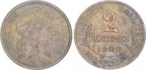 France 2 Centimes Liberty head - 1900