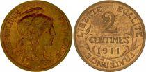 France 2 Centimes Liberty head - 1911 XF
