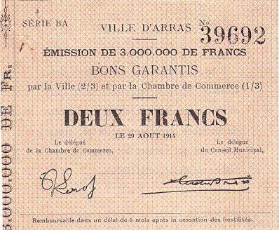 France 2 F Arras - 29/08/1914
