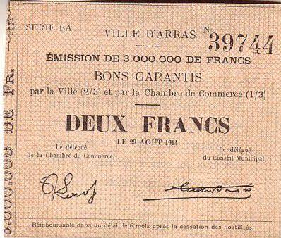 Billet france 2 f arras - Point p arras ...
