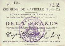 France 2 F Gavrelle - 20/03/1915