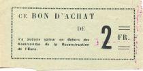 France 2 Francs - Bon des Kommandos de la Reconstruction de l\'Eure - SUP