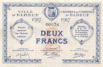 France 2 Francs - Chambre de Commerce d\'Elbeuf  1917 - P.NEUF