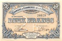 France 2 Francs - Chambre de Commerce de la Creuse 1917 - SPL