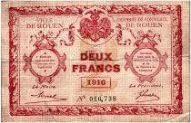 France 2 Francs - Chambre de Commerce de Rouen 1916 - TB+