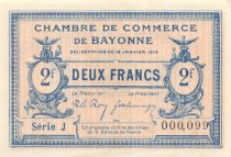 France 2 Francs - Chambre de Commerce des Bayonne 1915 - SPL