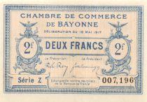 France 2 Francs - Chambre de Commerce des Bayonne 1917 - P.NEUF