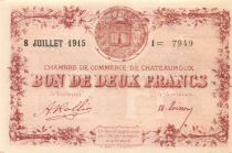 France 2 Francs - Châteauroux Chamber of Commerce 1915 - aUNC