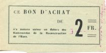 France 2 Francs - Eure Reconstruction Commandos Coupon - XF