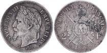France 2 Francs, Napoleon III - 1866 K  - Scarce