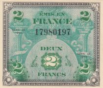 France 2 Francs Allied Military Currency - Flag - 1944