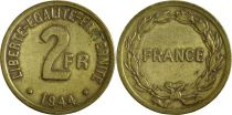 France 2 Francs Allied Occupation for France and Algeria 1944