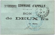 France 2 Francs Appilly Commune