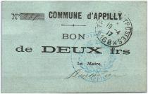 France 2 Francs Appilly Commune