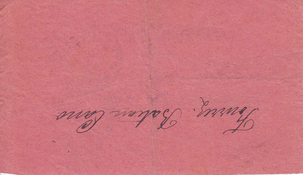 France 2 Francs Appilly Inscription Manuscrite