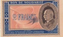 France 2 Francs Bon de Solidarité - WWII - 1941-1942