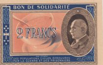 France 2 Francs Bon de Solidarité 1941-1942 - AU - Serial F