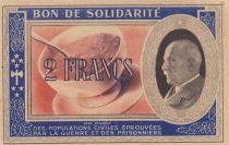 France 2 Francs Bon de Solidarité 1941-1942 - Série BJ - SUP
