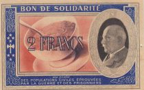 France 2 Francs Bon de Solidarité 1941-1942 - XF - Serial BJ