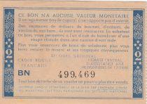 France 2 Francs Bon de Solidarité Pétain - Bol de Soupe 1941-1942 - VF - Série BN